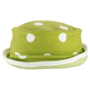 Βρέφος | καπελάκια / σκουφάκια | Καπέλο πουά πράσινο