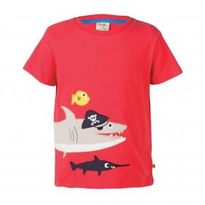 μπλούζα με καρχαρία απλικέ από οργανικό βαμβάκι Frugi