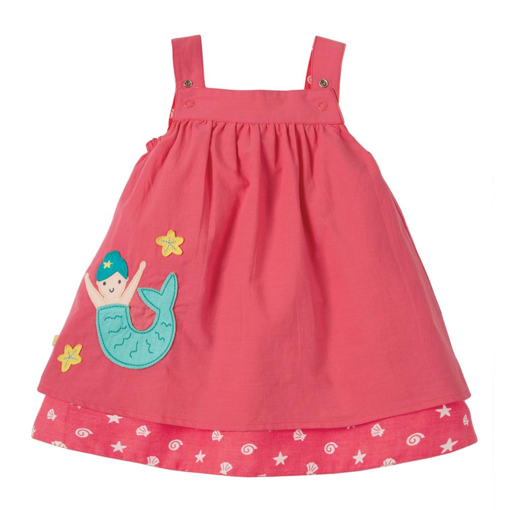 Οργανικό μπεμπέ φόρεμα 2 όψεων με γοργόνα Frugi 309d75e3b66